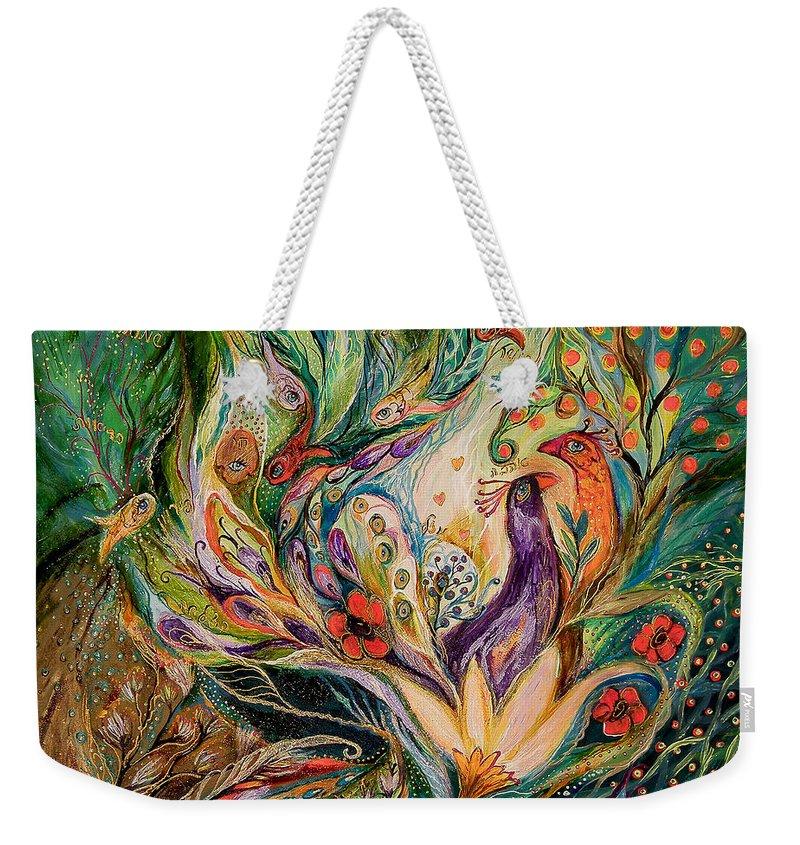 Original Weekender Tote Bag featuring the painting The Glade by Elena Kotliarker