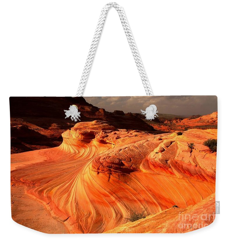 The Wave Weekender Tote Bag featuring the photograph The Glowing Dragon by Adam Jewell