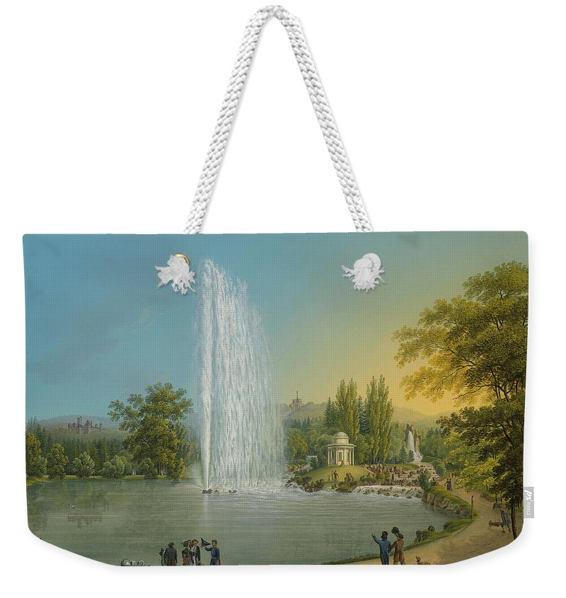 Johann Heinrich Bleuler (1758-1823) The Great Fountain Weekender Tote Bag featuring the painting The Great Fountain by Johann Heinrich