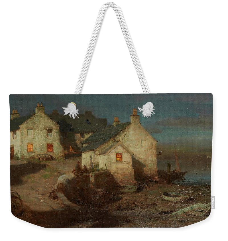 William Stewart Macgeorge R.s.a. (scottish 1861-1931) The Harbour Weekender Tote Bag featuring the painting The Harbour by William Stewart