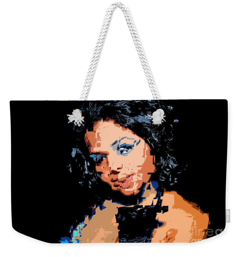 Kiss Weekender Tote Bag featuring the painting The Kiss by David Lee Thompson