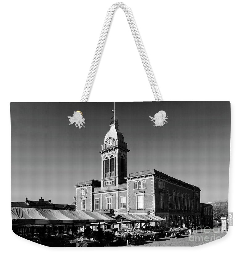 Market Weekender Tote Bag featuring the photograph The Market Hall, Market Square, Chesterfield Town, Derbyshire by Dave Porter