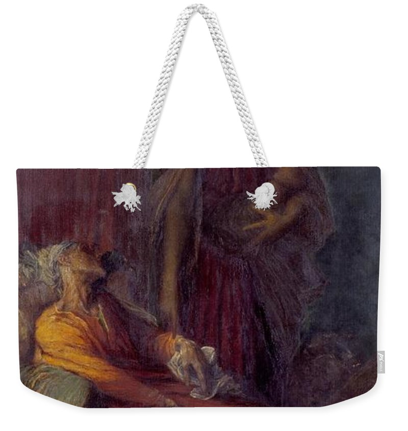 George Frederic Watts 1817�1904  The Messenger Weekender Tote Bag featuring the painting The Messenger by George Frederic