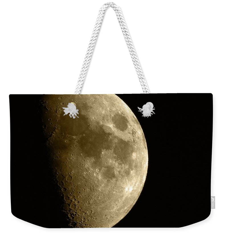 Moon Weekender Tote Bag featuring the photograph The Moon by Chris Day