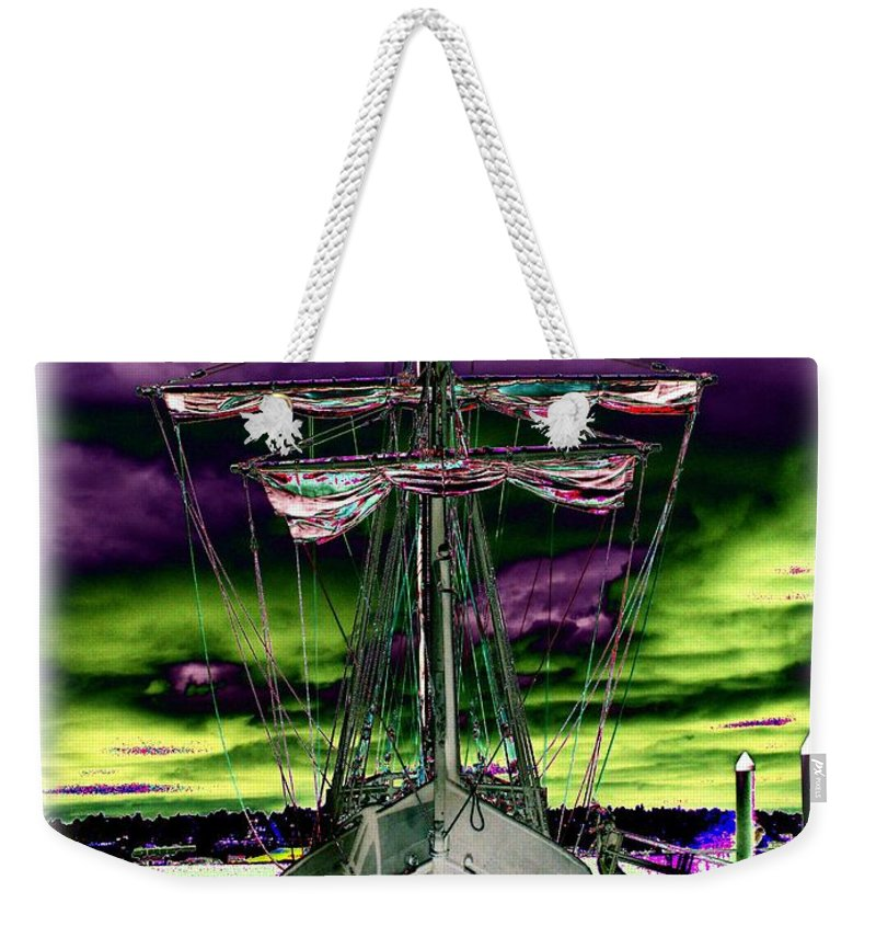 Nina Weekender Tote Bag featuring the photograph The Nina 2 by Tim Allen