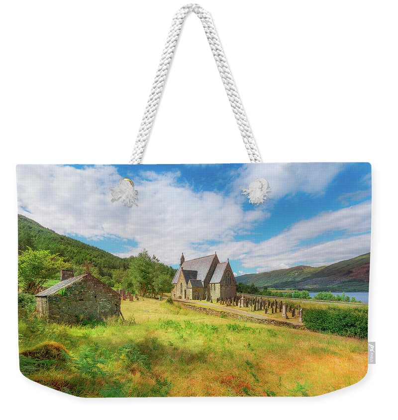 Ballichulish Church Weekender Tote Bag featuring the photograph The Old Highland Church by Roy McPeak