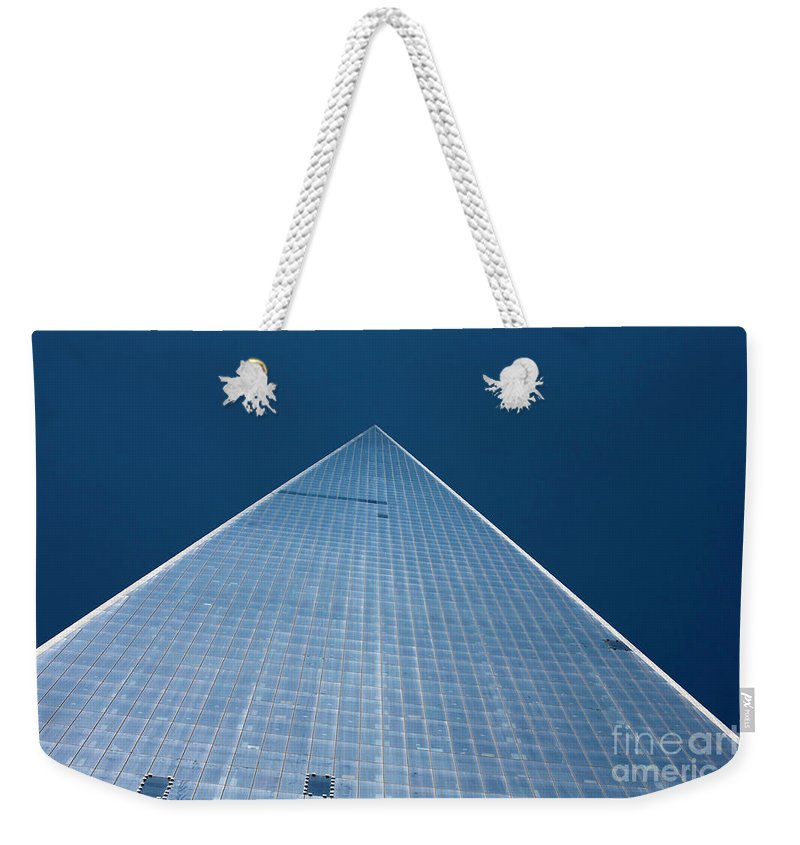 [one World Trade Centre] [freedom Tower] [new York City] [new York] America Usa American City Cities Manhattan [united States Of America] Weekender Tote Bag featuring the photograph The One World Trade Centre Or Freedom Tower New York City Usa by Michael Walters