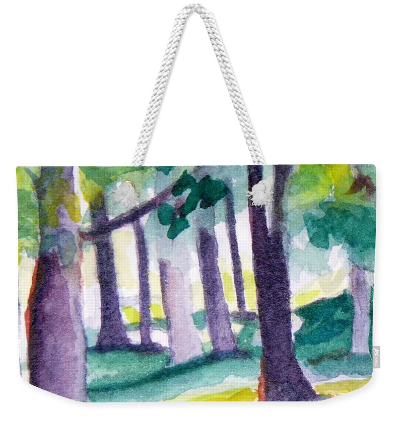 Nature Weekender Tote Bag featuring the painting The Perfect Day by Jan Bennicoff