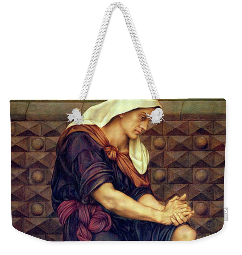 Evelyn De Morgan Weekender Tote Bag featuring the painting The Poor Man Who Saved The City by Evelyn De Morgan