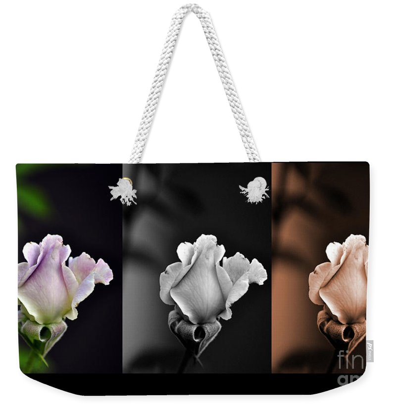 Clay Weekender Tote Bag featuring the photograph The Rose by Clayton Bruster