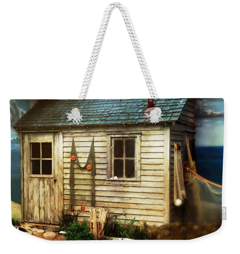 House Weekender Tote Bag featuring the photograph The Shack by Debbie Nobile