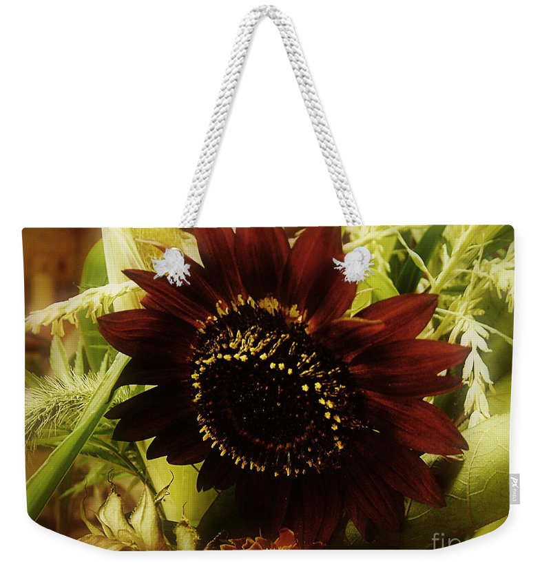 Sunflower Weekender Tote Bag featuring the photograph The Softness Of Autumn by RC DeWinter