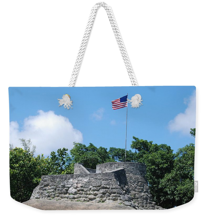 American Flag Weekender Tote Bag featuring the photograph The Stand by Rob Hans