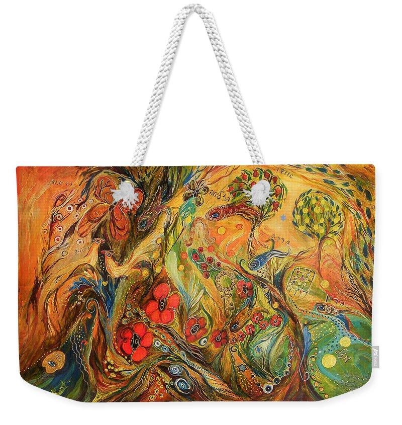 Original Weekender Tote Bag featuring the painting The True Love by Elena Kotliarker