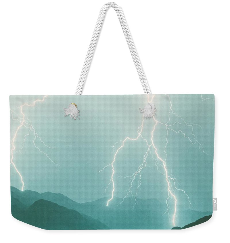 Lightning Weekender Tote Bag featuring the photograph The Walk by James BO Insogna