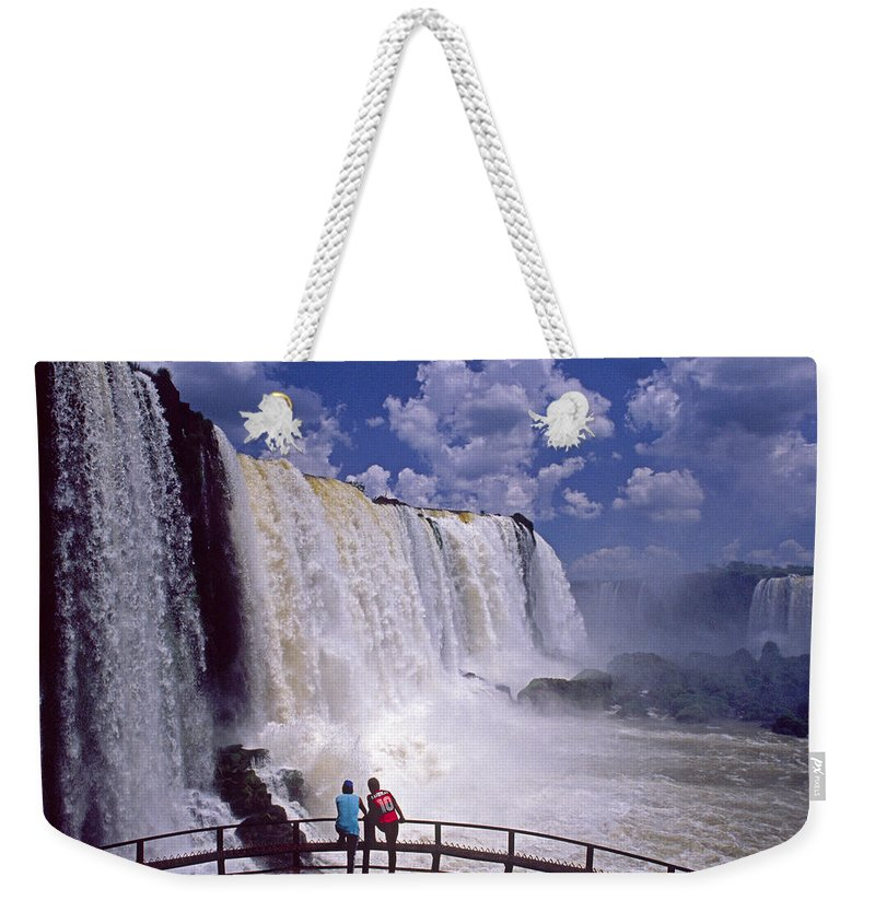 South America Weekender Tote Bag featuring the photograph Thundering Water by Michele Burgess