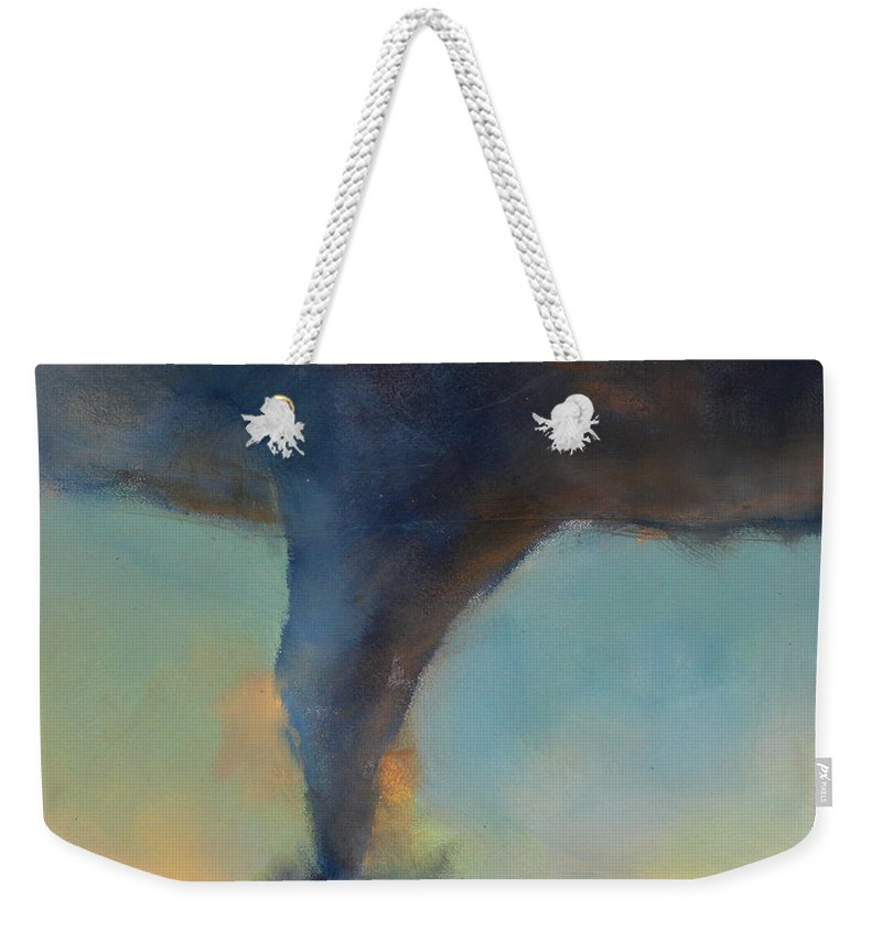 Tornado Weekender Tote Bag featuring the painting Tornado On The Move by Toni Grote