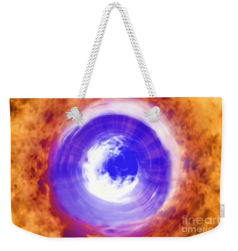 Power Weekender Tote Bag featuring the digital art Transformation by Richard Rizzo