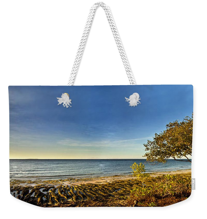 Panoramic Weekender Tote Bag featuring the photograph Trees by George Cabig