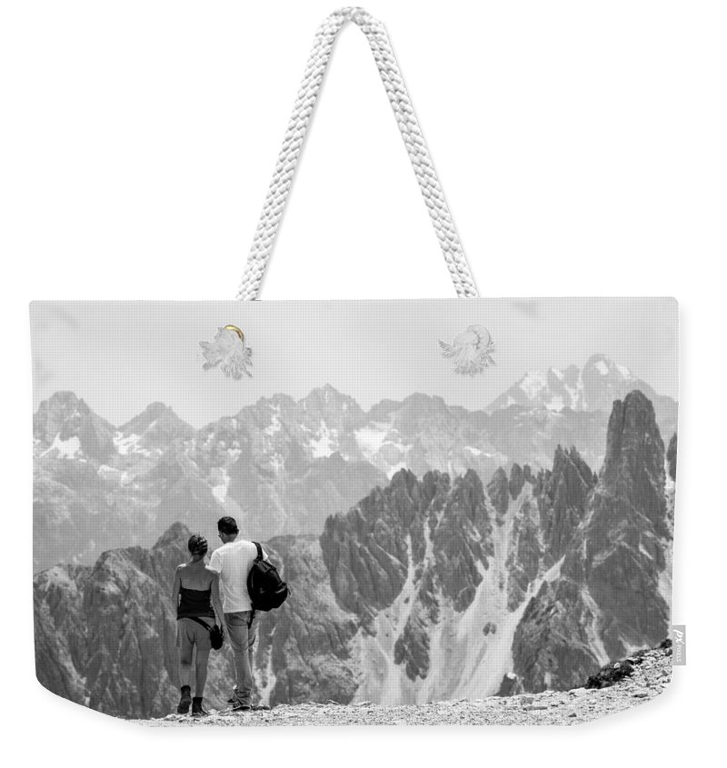 Life Weekender Tote Bag featuring the photograph Trekking Together by Alfio Finocchiaro