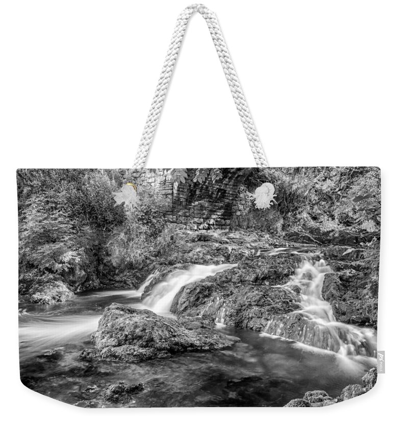 River Weekender Tote Bag featuring the photograph Trickling Down by Nick Bywater