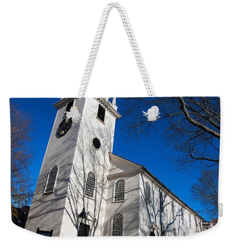 Travel Weekender Tote Bag featuring the photograph Trinity Church Newport Rhode Island by Jason O Watson