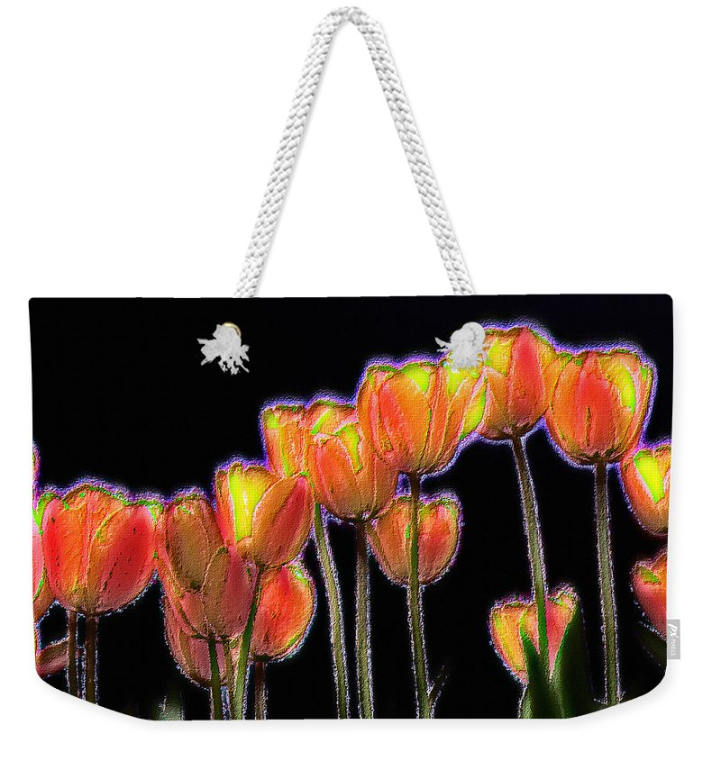Fresco Weekender Tote Bag featuring the photograph Tulips by Alexander Fedin