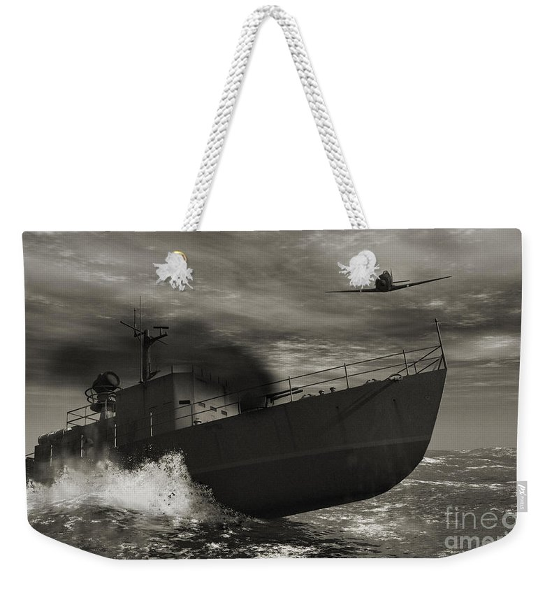 War Weekender Tote Bag featuring the digital art Under Attack by Richard Rizzo