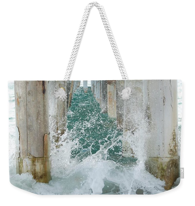 Ocean Weekender Tote Bag featuring the photograph Under The Boardwalk by Rob Hans