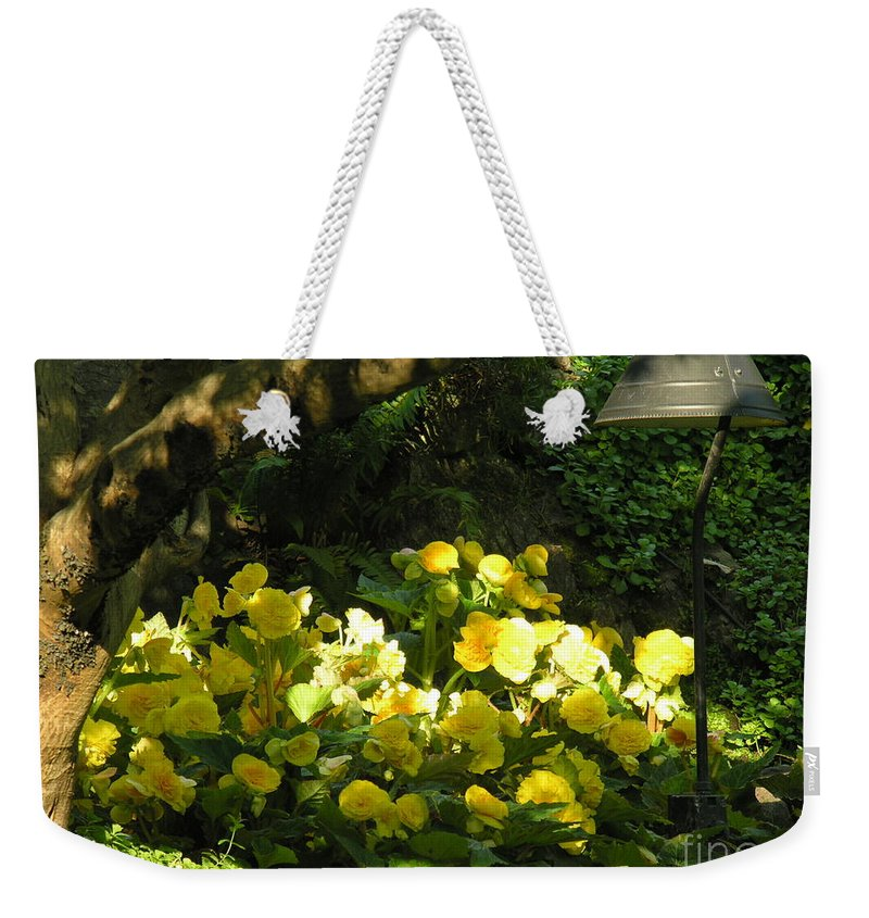 Yello Weekender Tote Bag featuring the photograph Untitled by Diane Greco-Lesser