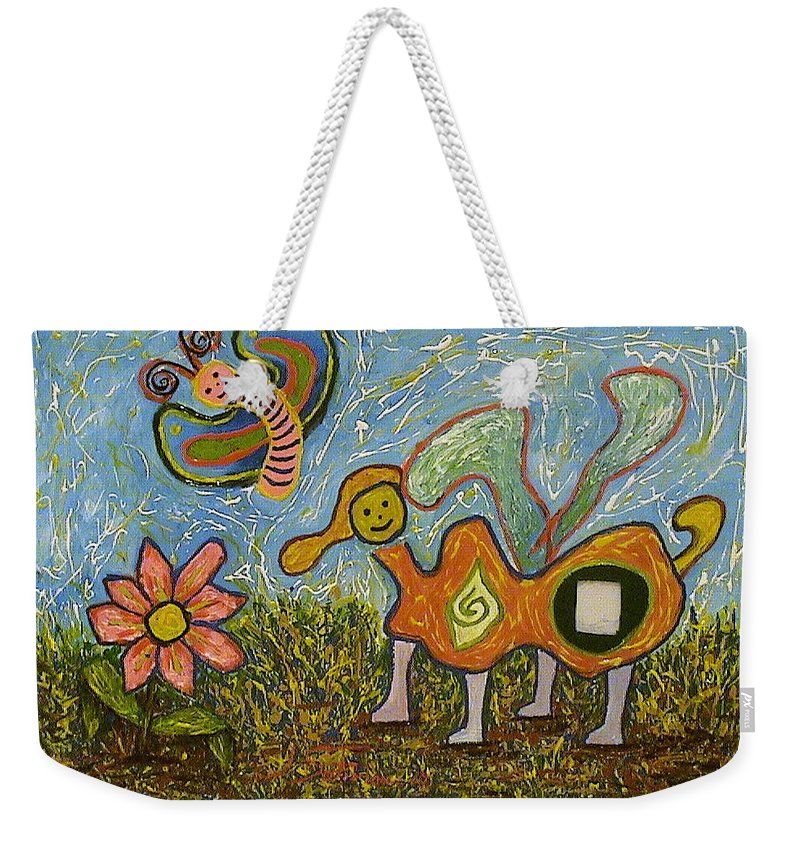 Animals Weekender Tote Bag featuring the painting Untitled by Ioulia Sotiriou