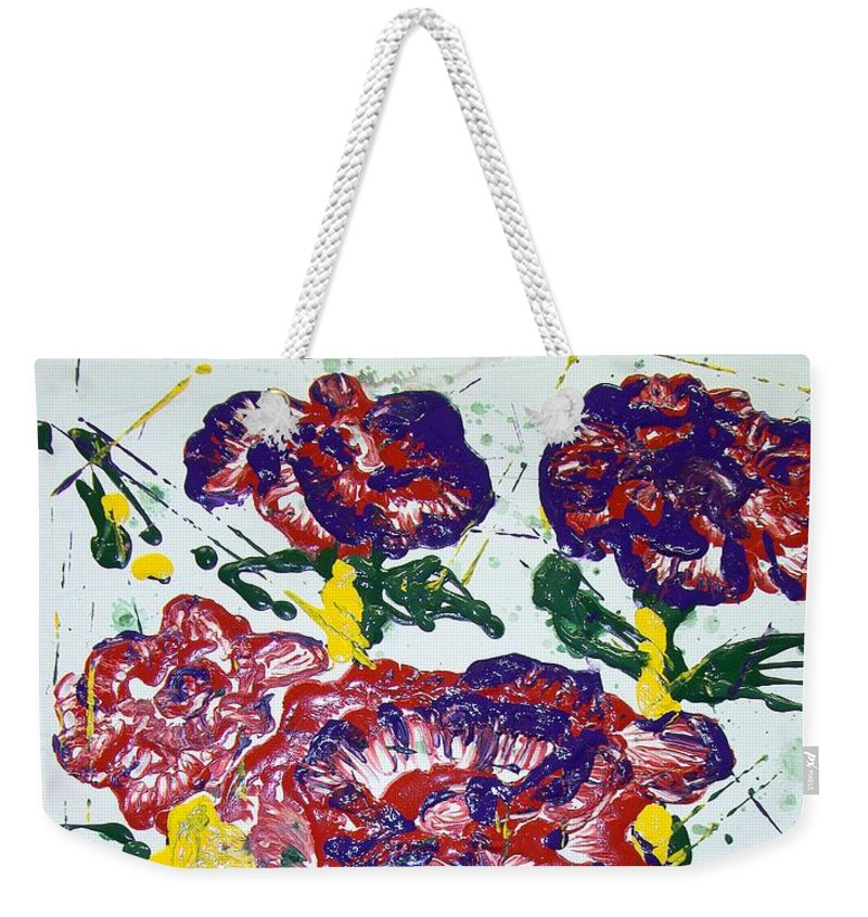 Abstract Painting Weekender Tote Bag featuring the painting Untitled by J R Seymour