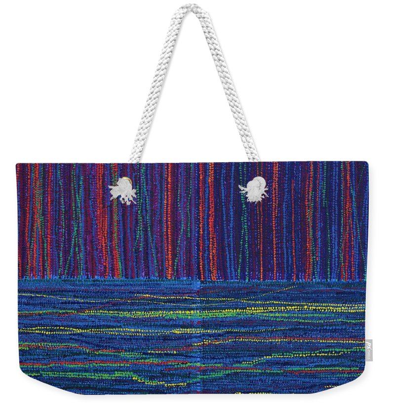 Inspirational Weekender Tote Bag featuring the painting Untitled by Kyung Hee Hogg