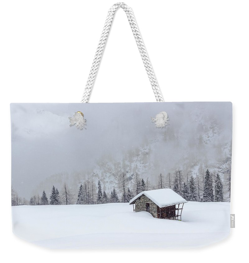 Cold Weekender Tote Bag featuring the photograph Val D'otro - Piedmont / Italy by Massimo Mazza