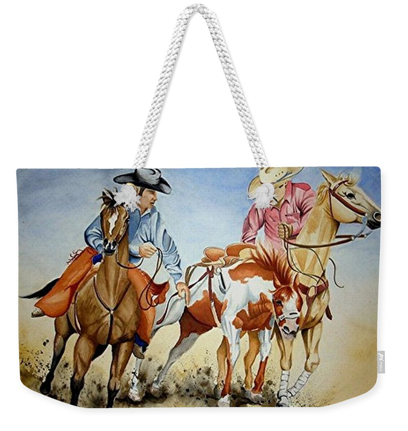 Art Weekender Tote Bag featuring the painting Victory Dance by Jimmy Smith