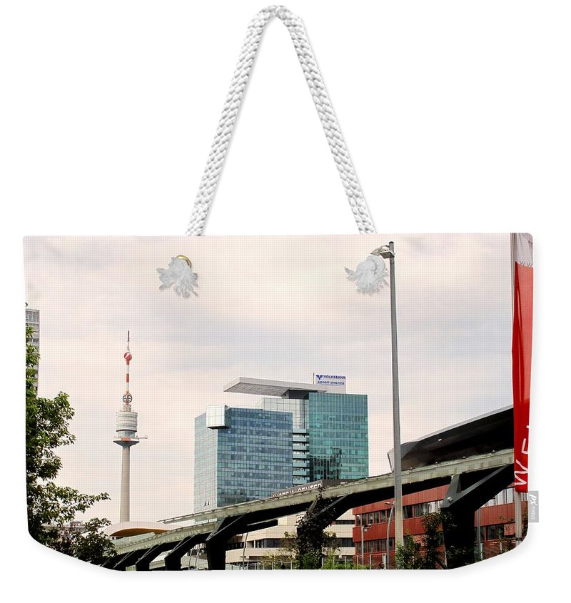 Vienna Weekender Tote Bag featuring the photograph Vienna Modern by Ian MacDonald