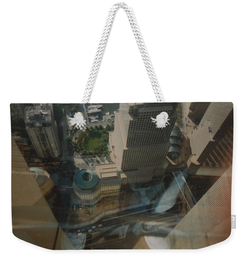 Wtc Weekender Tote Bag featuring the photograph View From The W T C by Rob Hans