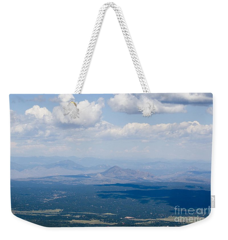 Pike National Forest Weekender Tote Bag featuring the photograph Views From The Pikes Peak Highway by Steve Krull