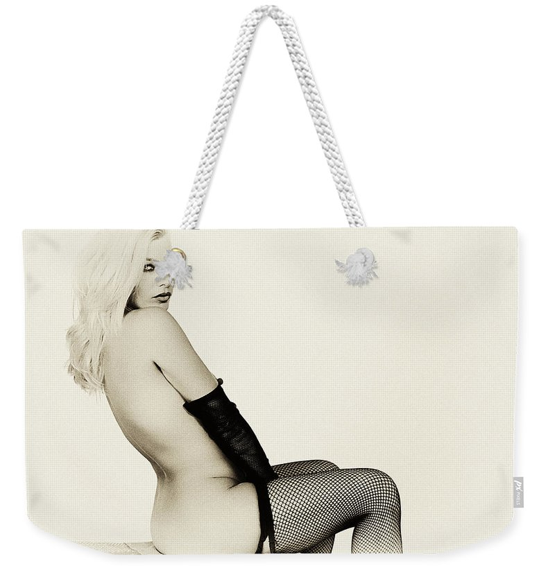 Clay Weekender Tote Bag featuring the photograph Vintage Pinup Glamour by Clayton Bruster