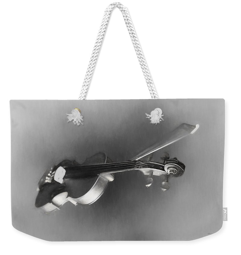Theresa Campbell Weekender Tote Bag featuring the digital art Violin by Theresa Campbell