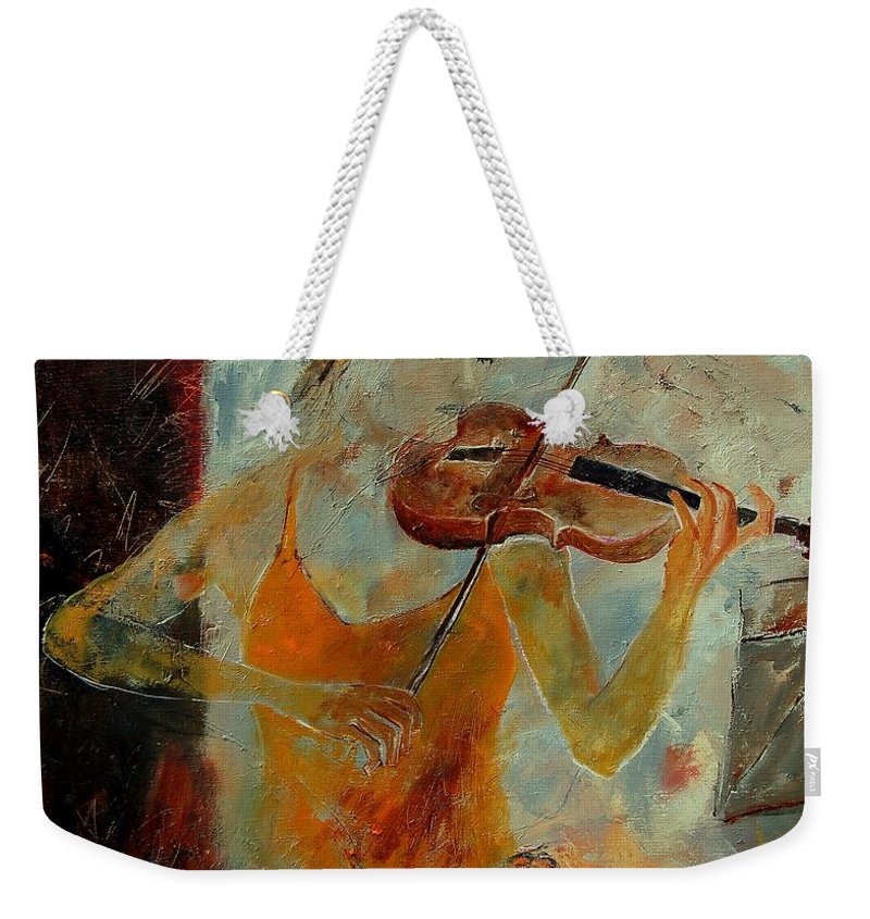 Music Weekender Tote Bag featuring the painting Violinist 67 by Pol Ledent