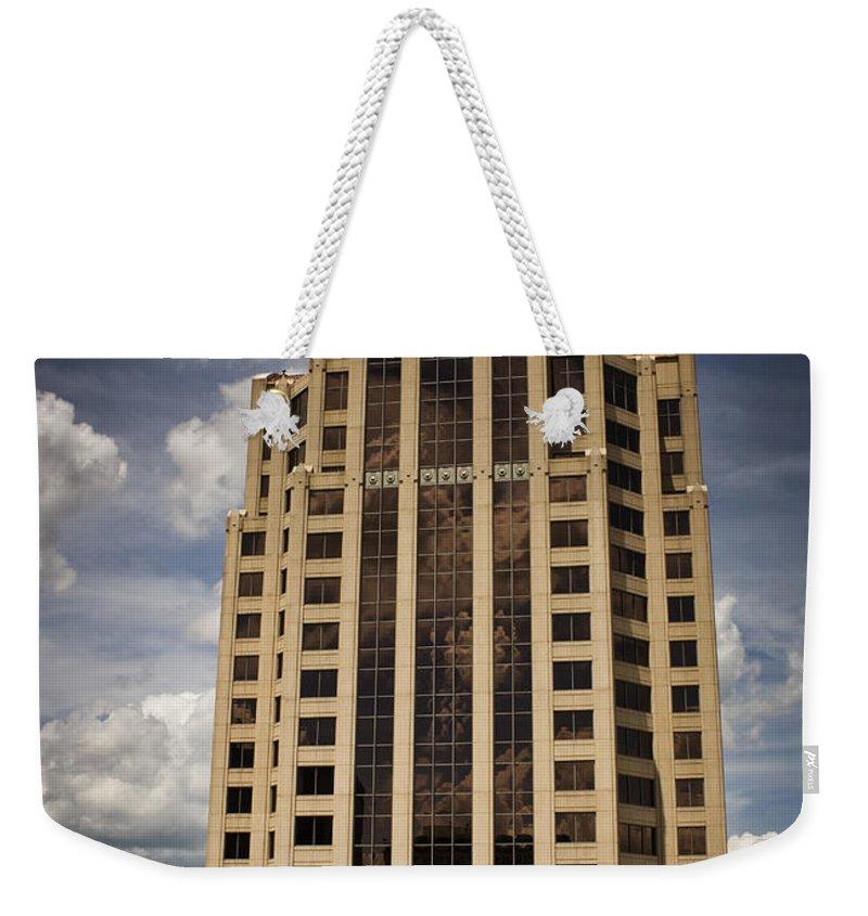 Roanoke Weekender Tote Bag featuring the photograph Wachovia Tower Roanoke Virginia by Teresa Mucha