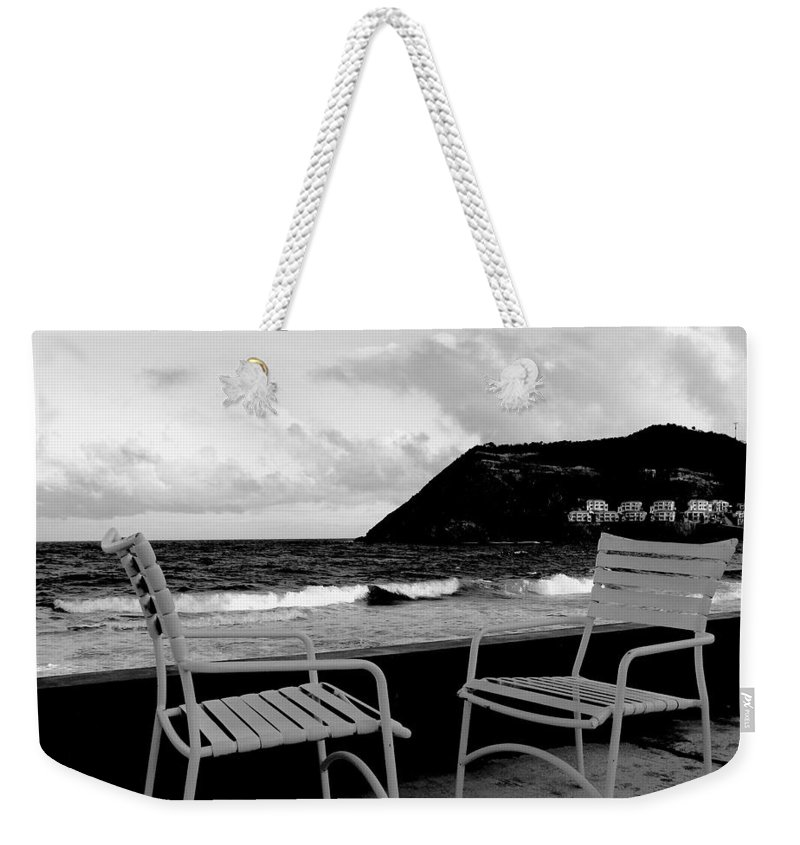 Ocean Weekender Tote Bag featuring the photograph Waiting by Ian MacDonald