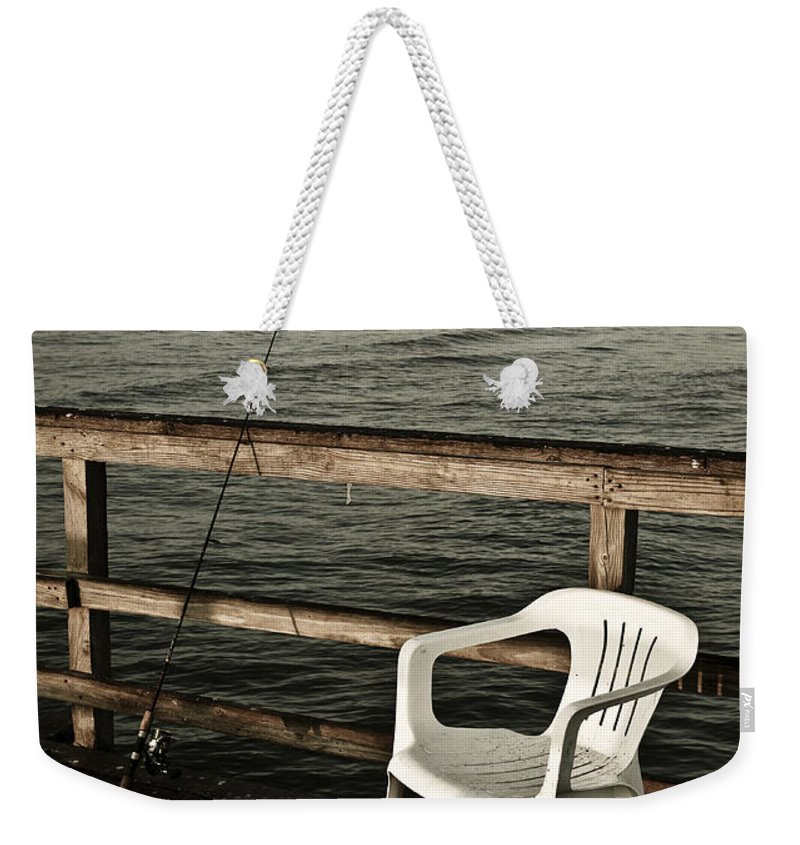 Fish Weekender Tote Bag featuring the photograph Waiting by Marilyn Hunt