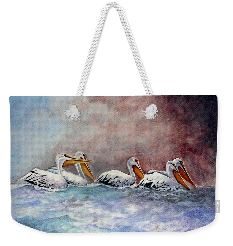 Art Weekender Tote Bag featuring the painting Waiting Out The Storm by Jimmy Smith