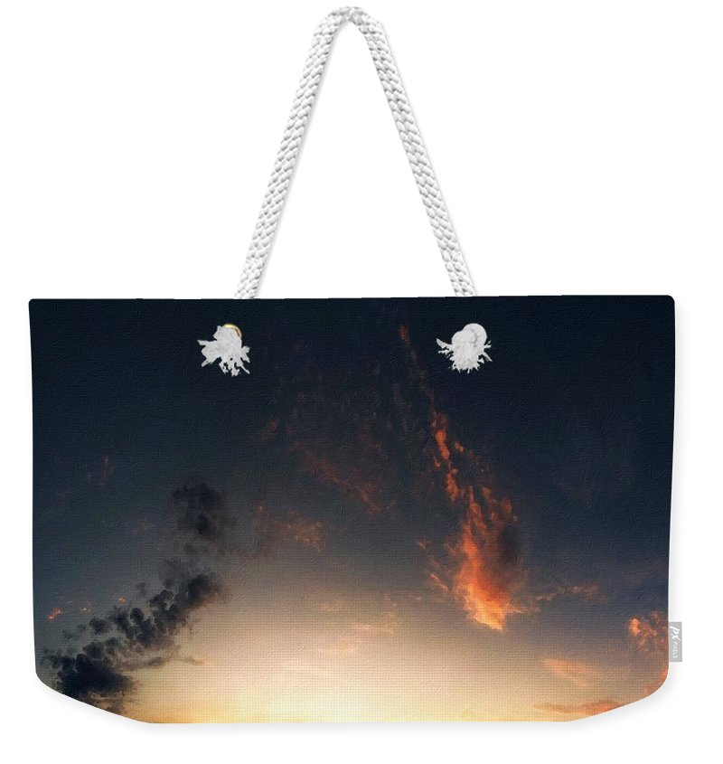 P Weekender Tote Bag featuring the digital art Wall Landscape by Usa Map