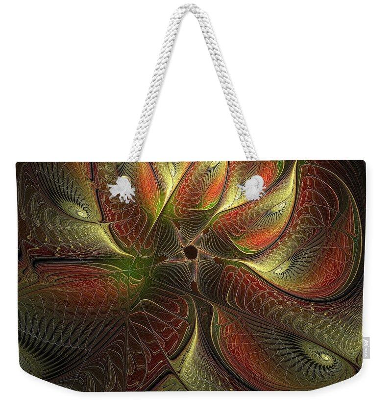 Digital Art Weekender Tote Bag featuring the digital art Watchful by Amanda Moore