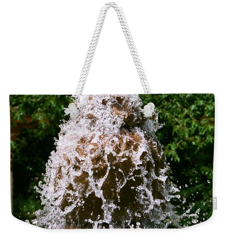Water Weekender Tote Bag featuring the photograph Water Fountain by Dean Triolo