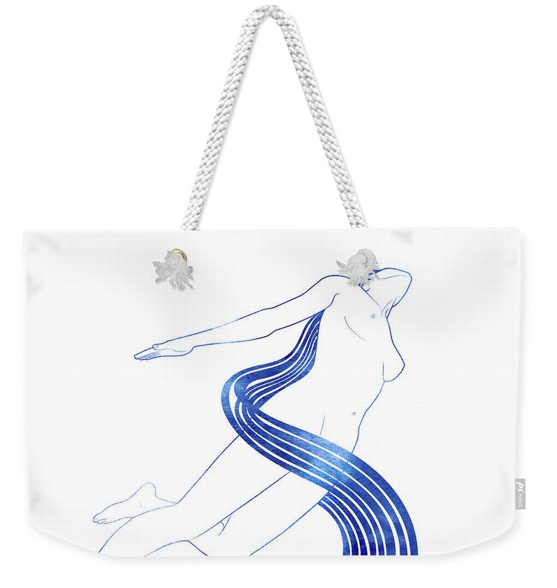 Beauty Weekender Tote Bag featuring the mixed media Water Nymph Xlvii by Stevyn Llewellyn