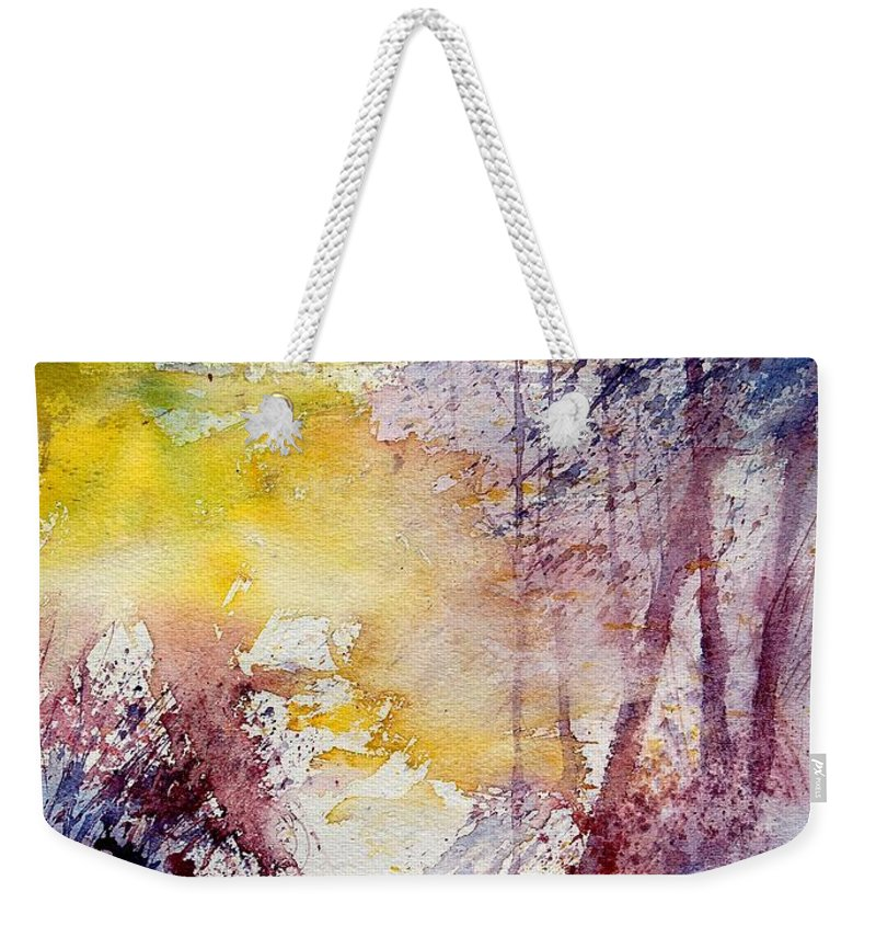 River Weekender Tote Bag featuring the painting Watercolor 040908 by Pol Ledent